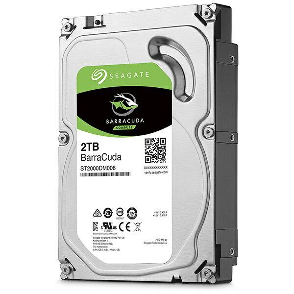 SEAGATE シーゲート ST2000DM008 内蔵HDD BarraCuda [3.5インチ /2TB][ST2000DM008]