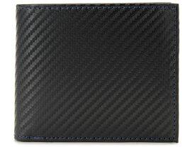 モンテスピガ monte SPIGA monte SPIGA モンテスピガ 二つ折り財布 MOSQS371BBKBL カーボン調 ブラック×ブルー メンズ