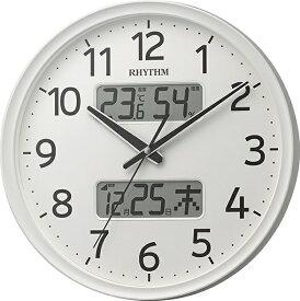 リズム時計 RHYTHM 掛け時計 【フィットウェーブリブA03】 白 8FYA03SR03 [電波自動受信機能有]