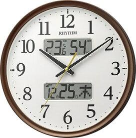 リズム時計 RHYTHM 掛け時計 【フィットウェーブリブA03】 茶 8FYA03SR06 [電波自動受信機能有]