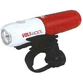 キャットアイ CATEYE USB充電式LEDライト VOLT400(ホワイトレッド) HL-EL461RC【限定色】