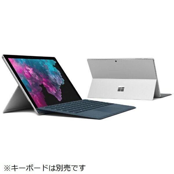 マイクロソフト Microsoft KJT-00014 Windowsタブレット Surface Pro 6(サーフェスプロ6) シルバー [12.3型 /intel Core i5 /SSD:256GB /メモリ:8GB /2018年10月モデル][KJT00014]
