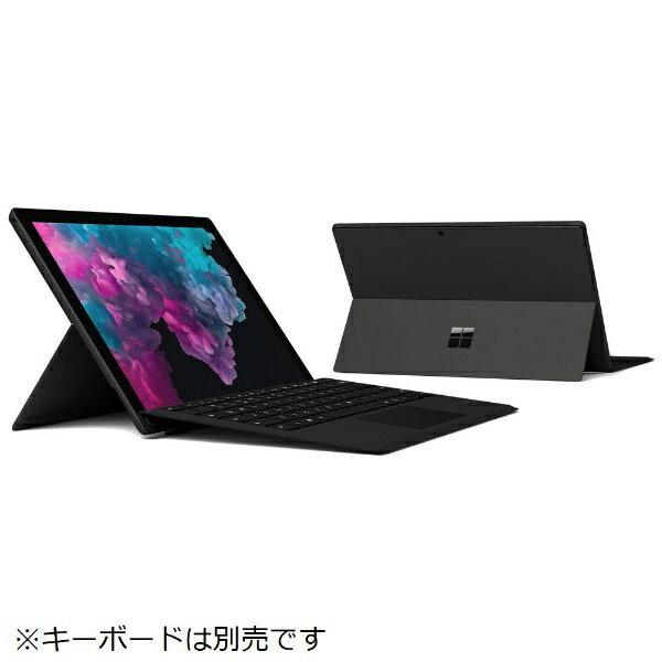 マイクロソフト Microsoft KJT-00023 Windowsタブレット Surface Pro 6(サーフェスプロ6) ブラック [12.3型 /intel Core i5 /SSD:256GB /メモリ:8GB /2018年10月モデル][KJT00023]