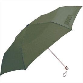 中谷 NAKATANI 【折りたたみ傘】無地 スリム・50cm 60255 カーキ
