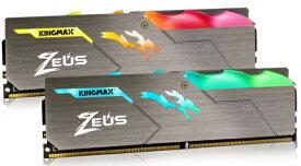 KINGMAX キングマックス 増設メモリ DDR4-3200 288pin LED搭載 8GB 2枚組 デスクトップ用 KM-LD4-3200-16GRD [DIMM DDR4 /8GB /2枚][KMLD4320016GRD]