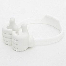 ロジック Logic StandHug 手形のユニークなスマホスタンド LG-SDHG-W ホワイト