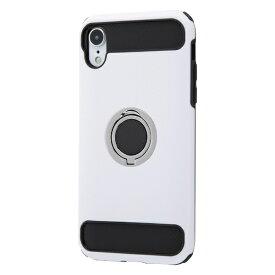 イングレム Ingrem iPhone XR 耐衝撃ケース マルチリング/ホワイト INA-P18AC2/W ホワイト