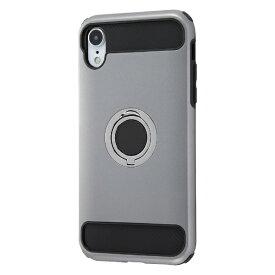 イングレム Ingrem iPhone XR 耐衝撃ケース マルチリング/シルバー INA-P18AC2/SV シルバー