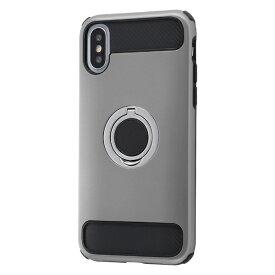 イングレム Ingrem iPhone XS/X 耐衝撃ケース マルチリング/シルバー INA-P20AC2/SV シルバー