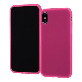 イングレム Ingrem iPhone XS/X シリコンケース ノーダスト/ピンク(半透明) INA-P20C1/P ピンク(半透明)