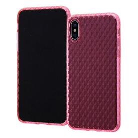 イングレム Ingrem iPhone XS/X TPUソフトケース クリスタルカット/ピンク INA-P20C7/P ピンク