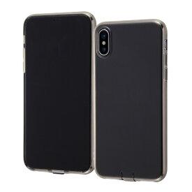 イングレム Ingrem iPhone XS/X TPUソフトケース チャージャーキャップ/ブラック INA-P20TC10/BM ブラック
