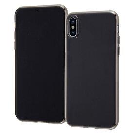 イングレム Ingrem iPhone XS/X TPUソフトケース ゼログラビティ/ブラック INA-P20TC7/BM ブラック