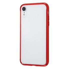 イングレム Ingrem iPhone XR ハイブリッドケース クリアタフ/レッド INA-P18CC2/RM レッド