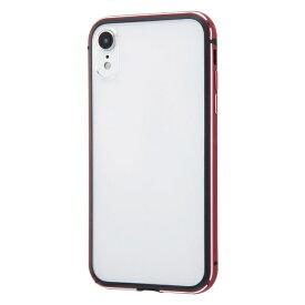 イングレム Ingrem iPhone XR アルミバンパー+背面パネル/レッド INA-P18AB/RM レッド
