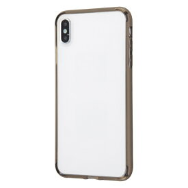 イングレム Ingrem iPhone XS Max ハイブリッドケース クリアタフ/ブラック INA-P19CC2/BM ブラック