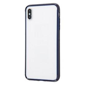 イングレム Ingrem iPhone XS Max ハイブリッドケース クリアタフ/ダークネイビー INA-P19CC2/DNM ダークネイビー