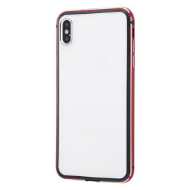 イングレム Ingrem iPhone XS Max アルミバンパー+背面パネル/レッド INA-P19AB/RM レッド