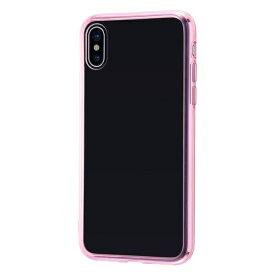 イングレム Ingrem iPhone XS/X ハイブリッドケース クリアタフ/ピンク INA-P20CC2/PM ピンク