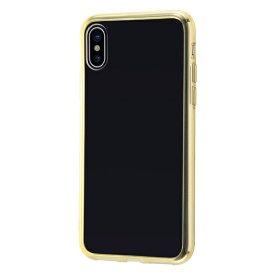 イングレム Ingrem iPhone XS/X ハイブリッドケース クリアタフ/ゴールド INA-P20CC2/GM ゴールド