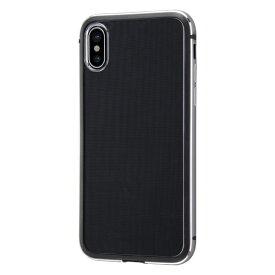 イングレム Ingrem iPhone XS/X アルミバンパー+背面パネル/ブラック INA-P20AB/BM ブラック