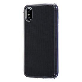 イングレム Ingrem iPhone XS/X アルミバンパー+背面パネル/ネイビー INA-P20AB/DNM ネイビー