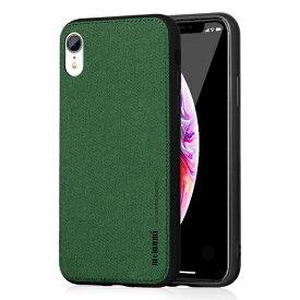 MEMUMI メムミ 薄型ソフトファブリックTPUケース Fans iphoneXR対応 AFC180406 Green