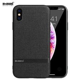 MEMUMI メムミ 薄型キャンパスTPUケース Jazz iphoneXS、X対応 AFC180901 Black