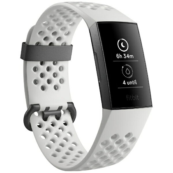 Fitbit フィットビット フィットネストラッカー fitbit charge 3 Special Edition White Sports Band/Graphite Aluminium L/Sサイズ FB410GMWT-CJK フロストホワイト スポーツベルト/グラファイト [7日][FB410GMWTCJK]