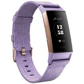 Fitbit フィットビット FB410RGLV-CJK フィットネストラッカー L/Sサイズ Charge 3 ラベンダー ウーブンベルト/ローズゴールド[FB410RGLVCJK]