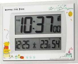 リズム時計 RHYTHM 目覚まし時計 【カケオキケンヨウデジタル/クマノプーサン】 8RZ206MC03 [電波自動受信機能有]