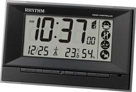リズム時計 RHYTHM 目覚まし時計 【フィットウェーブD207】 ブラック 8RZ207SR02 [デジタル /電波自動受信機能有]