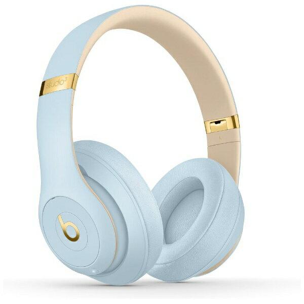 【送料無料】 BEATSBYDRDRE ブルートゥースヘッドホン Beats Studio3 Wireless MTU02PA/A クリスタルブルー [リモコン・マイク対応 /Bluetooth /ノイズキャンセリング対応]