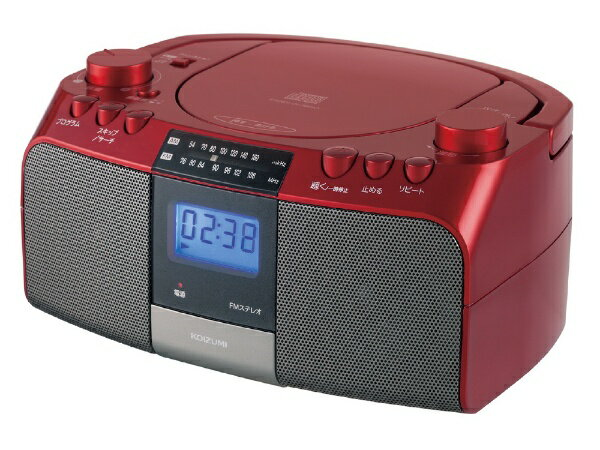 コイズミ KOIZUMI SAD-4705 CDラジオ レッド [ワイドFM対応][SAD4705R]