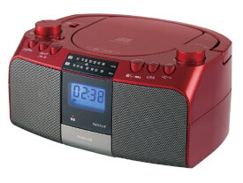 コイズミ KOIZUMI CDラジオ SAD-4705 レッド [ワイドFM対応][SAD4705R]