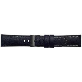 SAMSUNG サムスン 【純正】Galaxy Watch交換用ストラップ レザー 20mm GP-R815BREEBAA ブラック[GPR815BREEBAA]