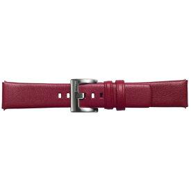 SAMSUNG サムスン 【純正】Galaxy Watch交換用ストラップ レザー 20mm GP-R815BREECAB レッド[GPR815BREECAB]