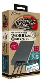 フォースメディア Force Media JF-PEACE8K2660P モバイルバッテリー J-Force ブラック [26800mAh /3ポート /USB-C /充電タイプ]