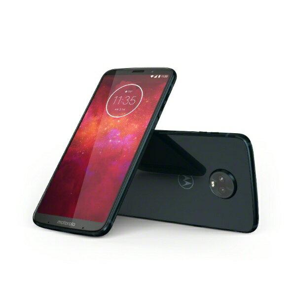 モトローラ Motorola Moto Z3 play ディープインディゴ「PABH0005JP」 4GB/64GB ドコモ/au/ソフトバンクSIM対応 SIMフリースマートフォン PABH0005JP ディープインディゴ[PABH0005JP]