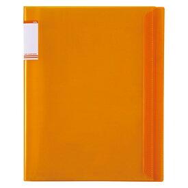 セキセイ SEKISEI ACT-5920 アクティフV フリップクリヤブック A4-S 20ポケット オレンジ