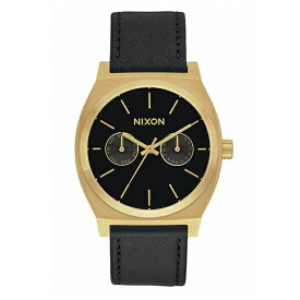 NIXON ニクソン THE TIME TELLER DELUXE LEATHER A9271604 ゴールド/ブラックサンレイ [並行輸入品]