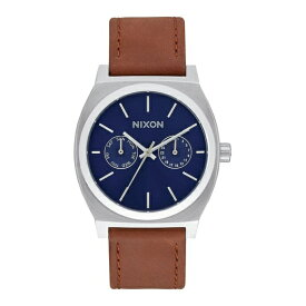 NIXON ニクソン THE TIME TELLER DELUXE LEATHER A9272307 ネイビーサンレイ/ブラウン