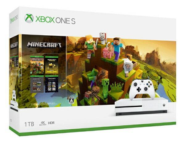 【送料無料】 マイクロソフト Microsoft Xbox One S 1TB(Minecraft マスター コレクション同梱版) 234-00670[ゲーム機本体]