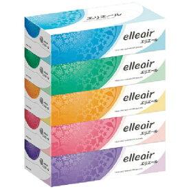 大王製紙 Daio Paper elleair(エリエール)ティシュー 180組(360枚)5箱パック[テッシュペーパー]
