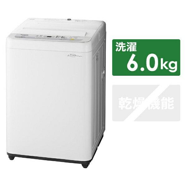 パナソニック Panasonic 【8%OFFクーポン配布中! 03/20 23:59まで】NA-F60B12-S 全自動洗濯機 Fシリーズ シルバー [洗濯6.0kg /乾燥機能無 /上開き][一人暮らし 新生活 新品 小型 設置 洗濯機]