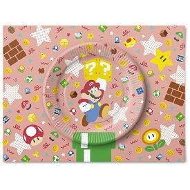 任天堂販売 Nintendo Sales スーパーマリオ ホーム&パーティ ペーパープレートセット(キャラクター&アイテム)