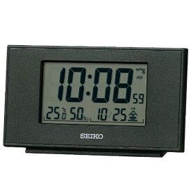 セイコー SEIKO 目覚まし時計 黒メタリック SQ790K [デジタル /電波自動受信機能有]