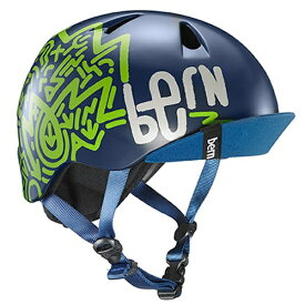 BERN バーン 子供用ヘルメット bern/NINO(XS-S:48.0〜51.5cm/Matte Navy Zig-Zag) 推奨年齢2-6歳