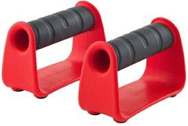 ジョイナス プッシュアップバー 腕たて先生 レッド(レッド×ブラック/幅14.2×高さ9.1×奥行6.4cm/2個入り) 3B-3023【耐久荷重:100kg】