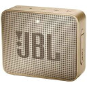 JBL ジェイビーエル 【ビックカメラグループオリジナル】ブルートゥーススピーカー シャンパン JBLGO2CHAMPAGNE [Blu…